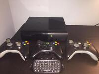Xbox 360 Go with 3 Controllers and games!