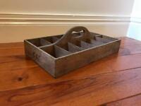 Vintage Retro Industrial Tool Caddy