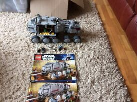 lego star wars 8098 clone turbo tank complete with 6 x figures and instructions. for sale