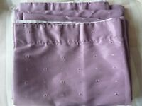 Purple lined curtains