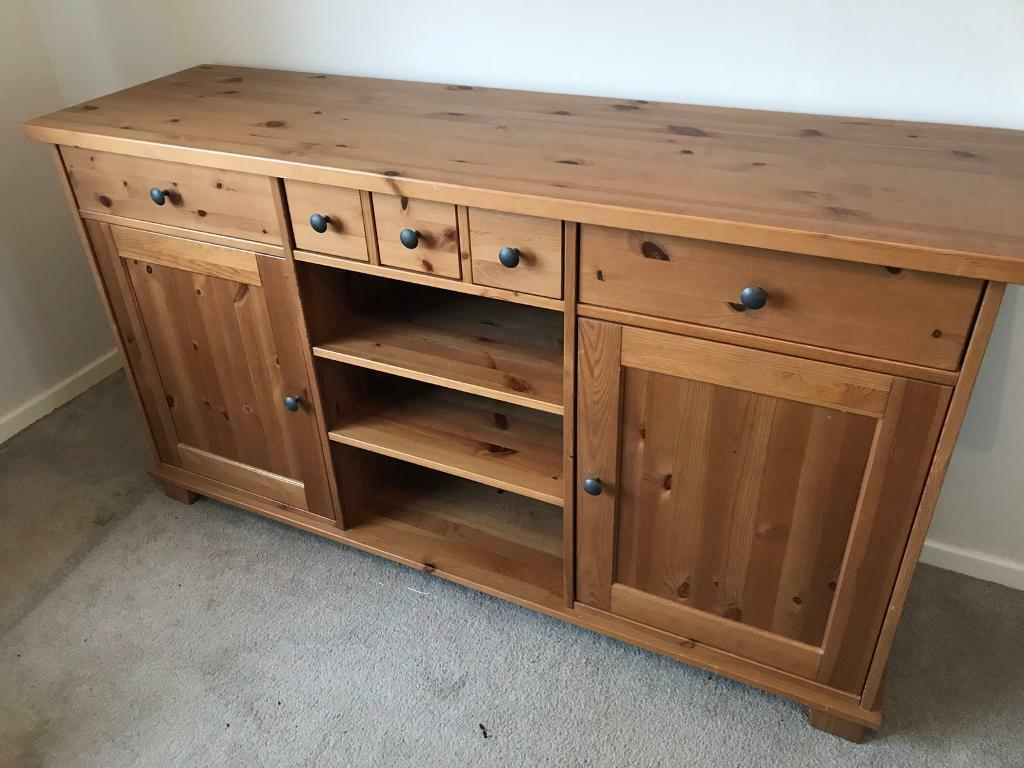 ikea hemnes sideboard draws cupboard pine solid wood | in