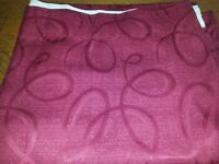2 PRS OF DEEP RED CURTAINS, 66 INS X 90INS