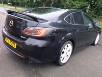 "2008 MAZDA 6-BLACK 2.5 SPORT-170 BHP-PETROL-6SPEED-5DR,77000 MILES -MOT NOV.2017,18""ALLOYS,HPI CLEAR"