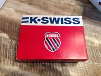 Unwanted gift K-Swiss trainer shoes size 6 in white boxed.