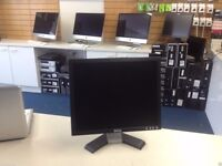 """DELL 17"""" LCD Monitor PC Computer Display Screen VGA With Stand & Cables"""