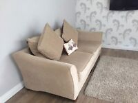 4 seater cream sofa with matching arm chair