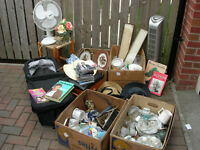 Car Boot Job Lot all boxed up ready to go