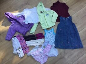 Bundle of girls' clothes for age 4-6 years; charity sale
