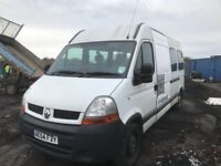 Renault Master lwb 2005 year mini bus breaking spare parts bumper bonnet wing axel wheel radiator