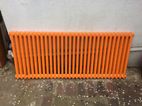 cast iron radiator - orange - 1.42m