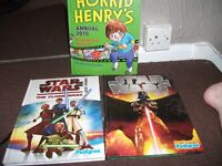 stars wars and horrid henry 2010 annuals