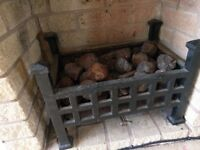 Wrought Iron Fireplace - Real Fire
