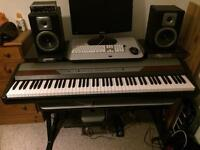 Korg SP 250 digital piano with original stand