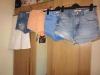 Primark/New Look/Topshop skirt and shorts, left to right