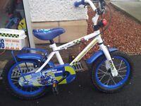 """Apollo Police Patrol 14"""" kids bike"""