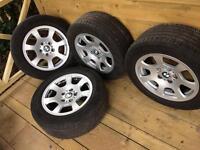 Alloy wheels with Continental tyres genuine BMW *traffic vivaro* alloys 16inch