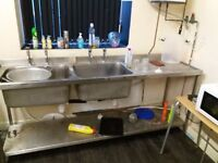 Commerical catering double sink