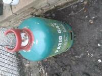 almost empty 13kg patio gas bottle