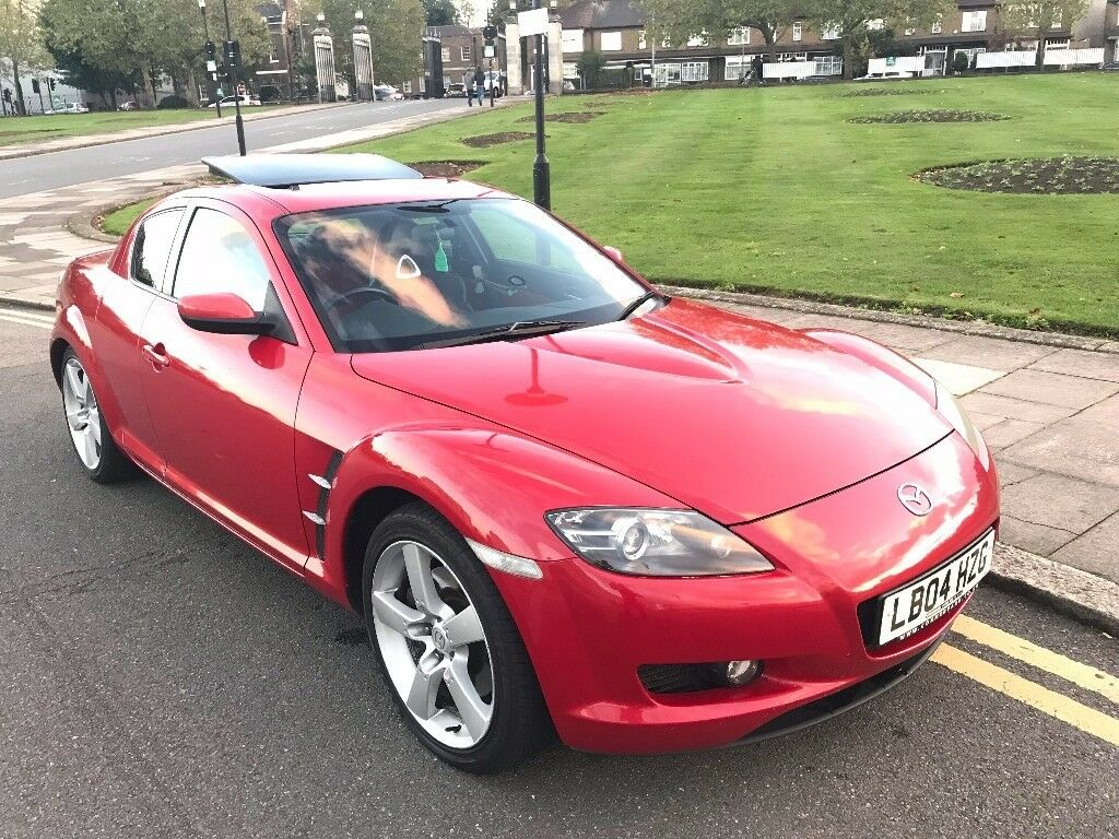 04 REG MAZDA RX8 192 PS RED LEATHER SUNROOF LOW MILES HISTORY NOT CIVIC TYPE R IS200 CELICA GOLF GTI