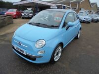 2011 11 fiat 500 1.2 lounge. 30 + cars in stock.