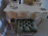 make-up dressing table with mirror