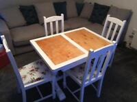 Shabby Chic Oak Table and Chairs
