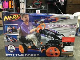 **brand new** nerf go kart battle racer