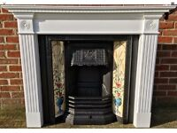 Stovax Fireplace - Victorian Style Cast Iron Fireplace With Poppy and Wheatsheaf Tiles and Surround