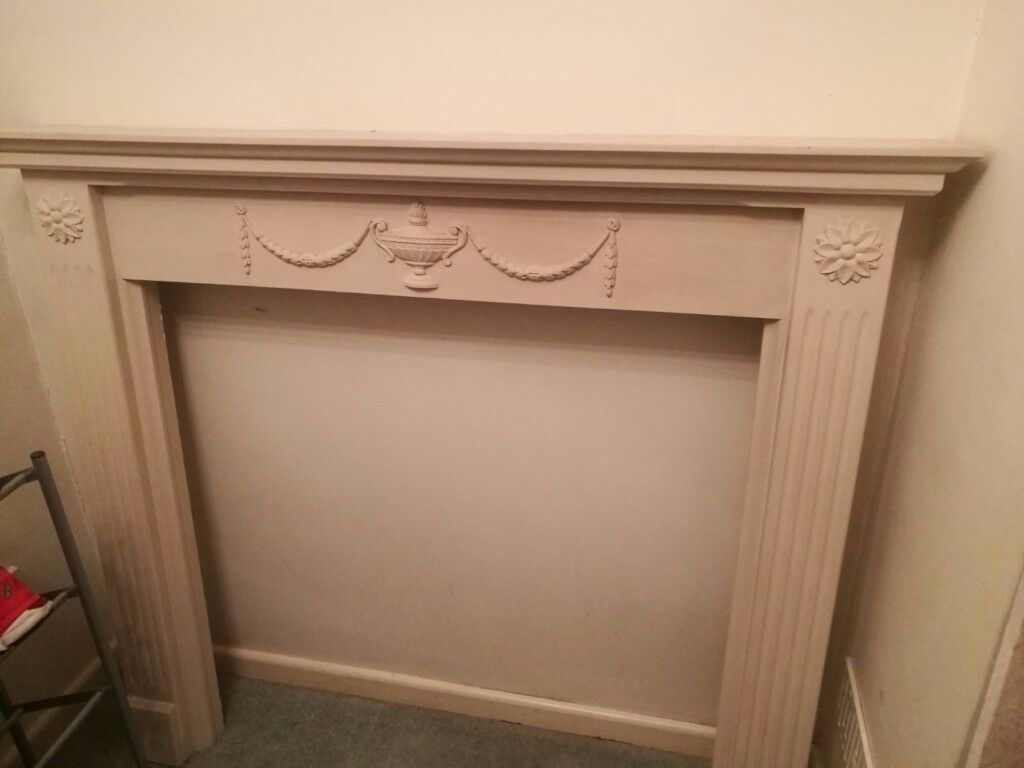 Gas fireplace, surround and marble hearth