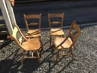 4 lovely wooden kitchen chairs