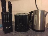 Toaster, Kettle and Knife Block