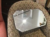 Lovely Vintage 1930s Art Deco Frameless Bevelled Edge Wall Mirror