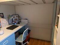 Children's loft bed, desk and wardrobe