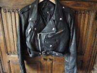 Girly biker jacket.