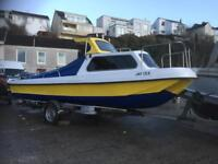 20ft pilot 590 60hp And Trailer px smaller cabin boat boat outbored