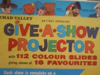 UNIQUE TOY PROJECTOR - CHAD VALLEY GIVE A SHOW PROJECTOR SET