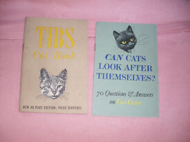 OLD POSTCARDS OF CATS AND 2 VERY OLD CAT BOOKS £5 FOR THE COLLECTION.