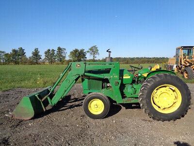 1980 John Deere 2240 Tractor Jd 245 Front Loader 1 Rear Remote