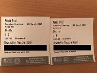 2X 'Mamma Mia!' tickets at Newcastle Theatre Royal