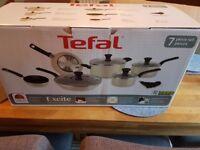 Brand new 7 piece Tefal pan set