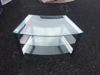 Glass curve tv stand