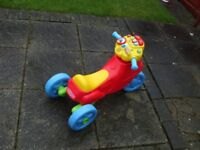 KIDS PUSH ALONG PLAY CAR WITH SOUNDS