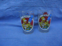 2 x 'Les Simpsons' Drinking Glasses