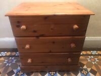 Solid pine drawers