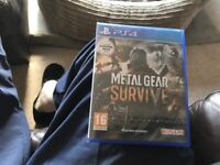 New sealed PS4 game new metal gear survive bargain £30