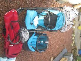 Maxi Cosi Bebe Comfort Buggy + car seat++ Raincover used
