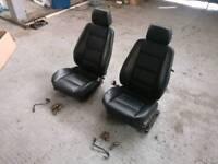 BMW E30 Black Leather Front Seats, From an E36