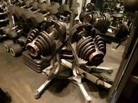 BOWFLEX 1090 SELECTTECH ADJUSTABLE DUMBELLS 10 - 41KG. Some weights need attention so selling cheap.