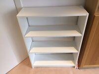 White 3/4 shelf bookcase for Sale