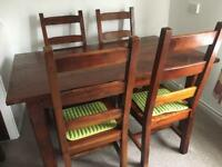 Raspberry Village dining table and chairs
